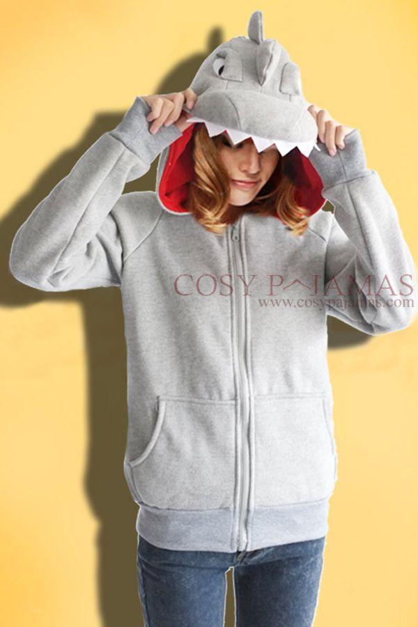 Grey Dinosaur Hoody Jacket