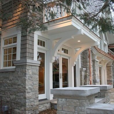 25 best ideas about shingle style architecture on for Stone exterior design