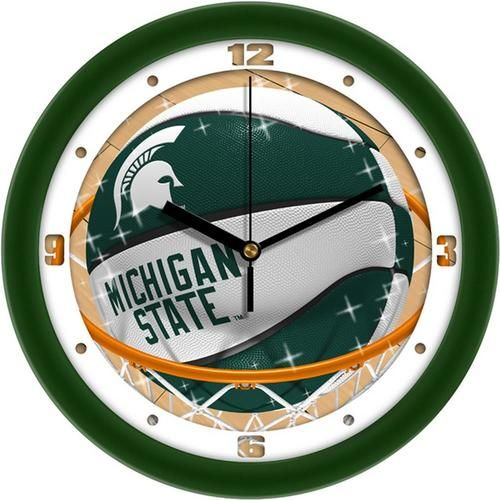Michigan State University Basketball Wall Clock