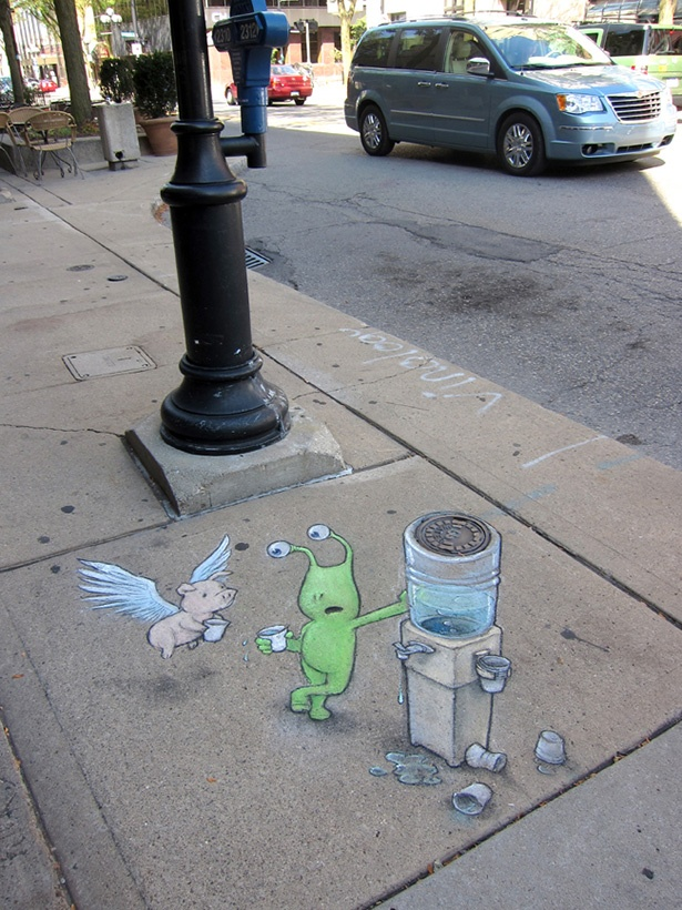 David Zinn: Sidewalk Chalk Art