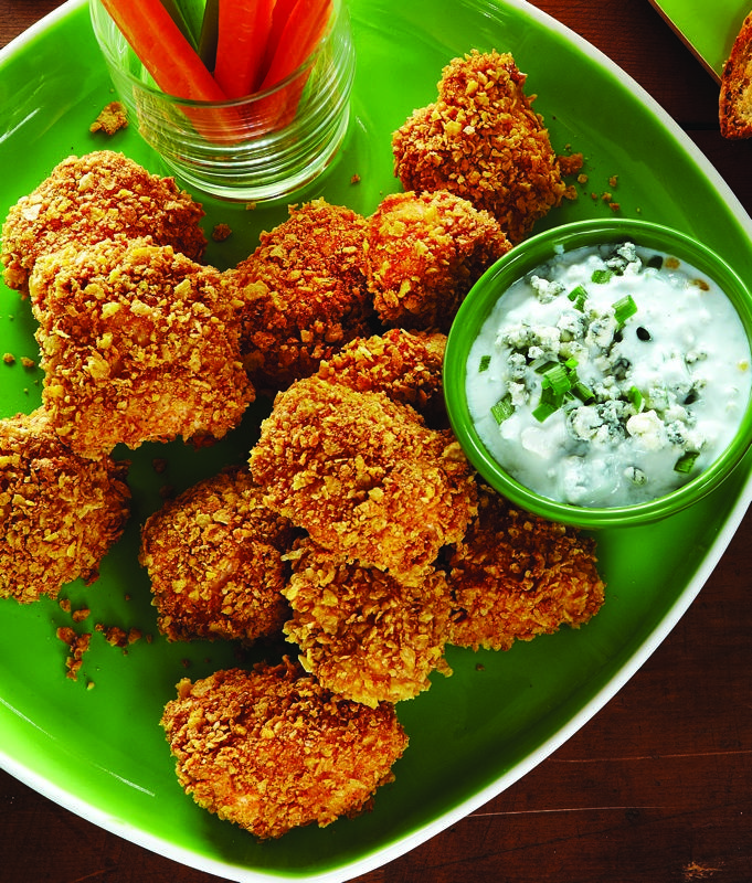 Baked Buffalo Chicken Tenders with Blue Cheese Sauce - Clean Eating - Clean Eating