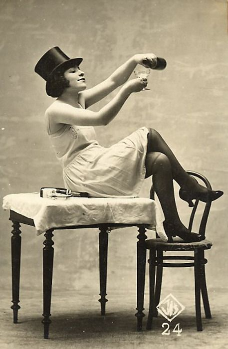 During the roaring 20's women's fashion was drastically changing. Short dresses, alcohol, short hair and sexual connotation was very popular. The fact that women were getting more equal rights during the time drove them to be different and non traditional. (fashion)