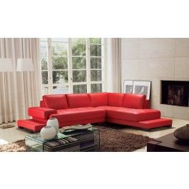 moscow modern red leather sectional sofa