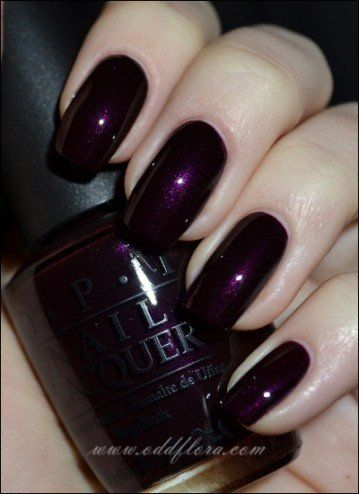 Oddflora Nails Nail Polish Purple Purple Nails Purple Nail Polish Swatch Opi Opi Eiffel