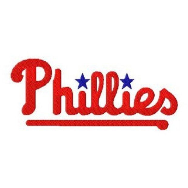 Pennsylvania Philadelphia Phillies Baseball Logo Machine Embroidery includes BOTH Stitched AND Applique Designs in Tons Sizes. $2.99, via Etsy.