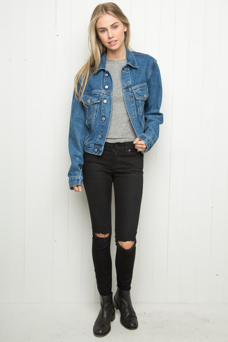 Brandy ♥ Melville | Amara Denim Jacket - Outerwear - Clothing