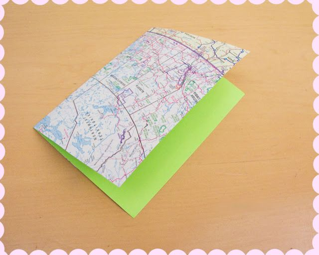 Wear The Canvas: DIY Fri: Map Card and Envelope