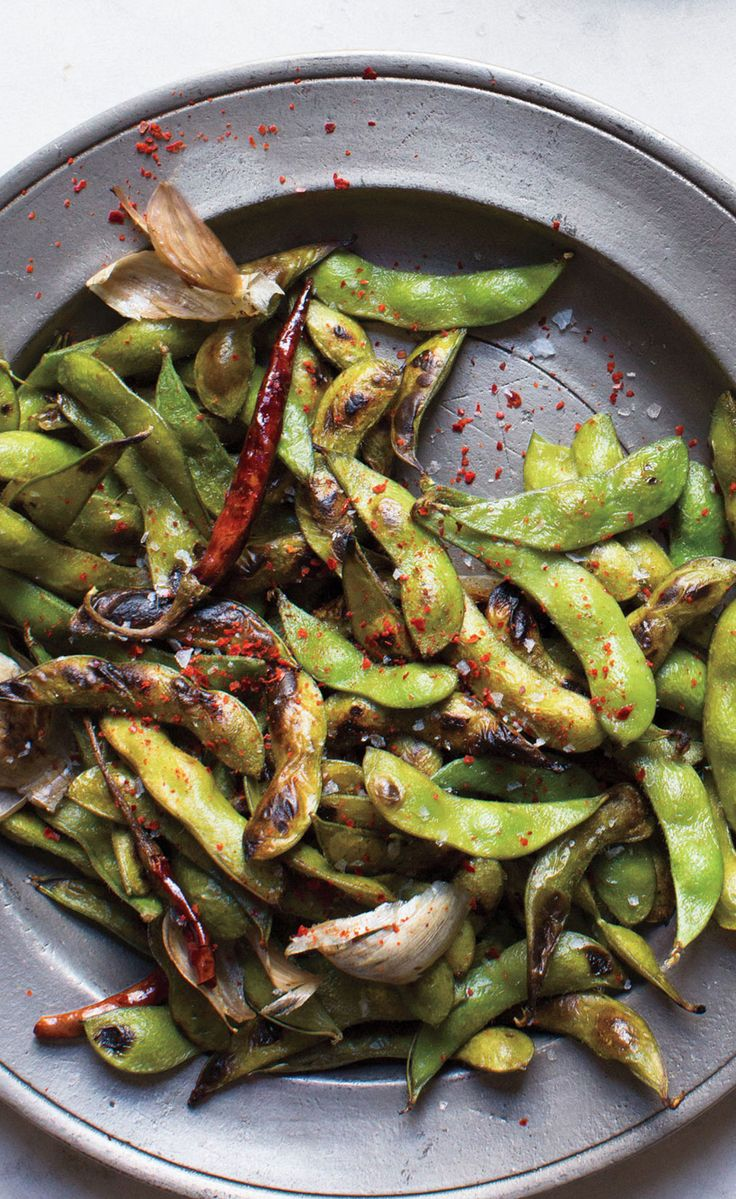 C'mon, who doesn't love edamame? Consider this the adults-only version; sautéed, spicy, and highly snackable.