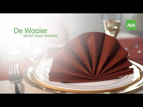 AVA servetten vouwen: De Waaier - YouTube
