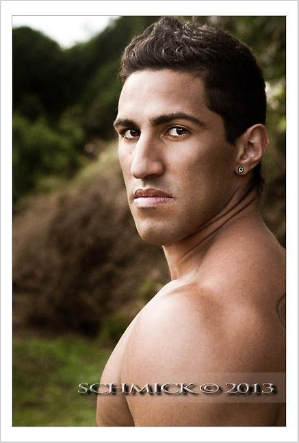 Man male fit fitness athlete athletic aesthetic aesthetics swole swoldier tan tanned face portrait portraiture photo photography island tropical green nature eyes hair lips earring cheekbones skin smooth shoulder neck jaw brisbane  strong strength brown tan SchMick imagery canon 7d