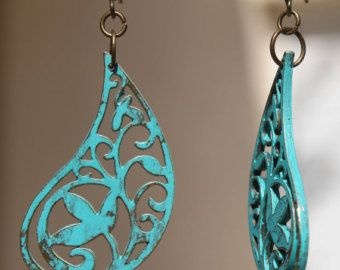 Boho Earrings Bohemian Earrings Jewelry Dangle Brass Ethnic