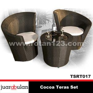 CocoaTeras Set Kursi Rotan Sintetis TSRT017