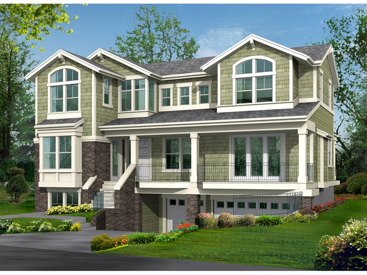 9 best home designs with basement garages images on Home plans and more