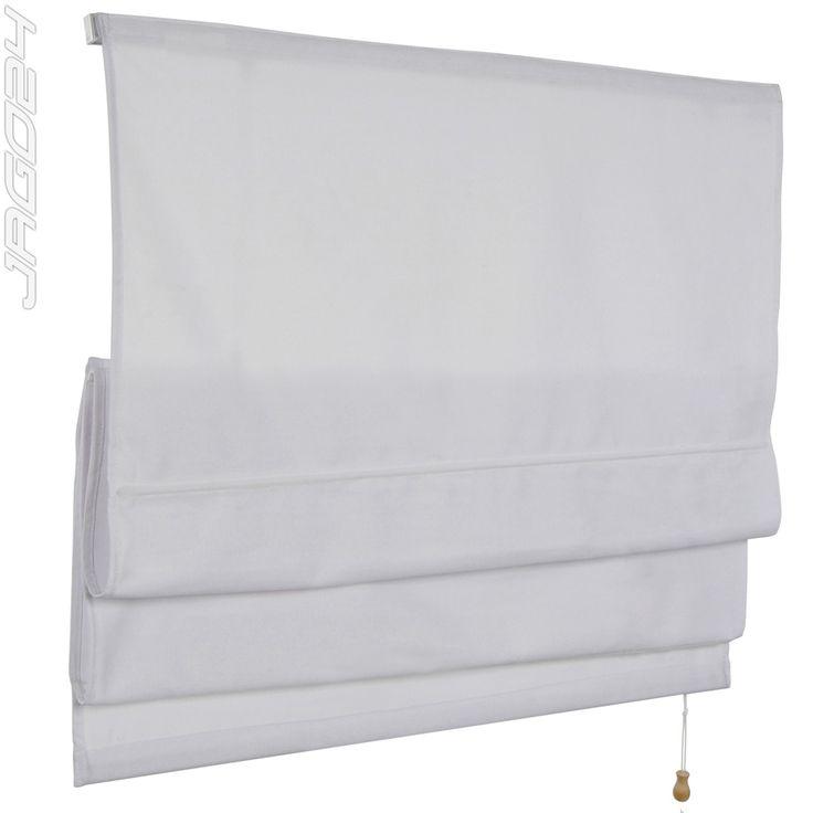 Raffrollo-Raffgardine-Faltrollo-Vorhang-Rollo-Fenster-Uni-Gardine-Sichtschutz