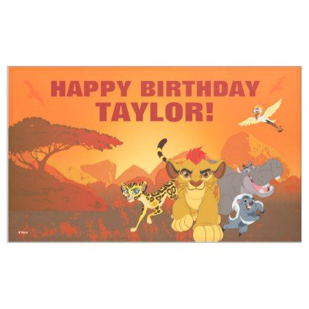 Lion Guard | Birthday Banner - click/tap to personalize and buy