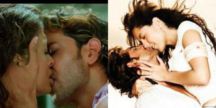 Bollywood's Greek God Hrithik Roshan's lip lock scene with Aishwarya in Dhoom 2 and with Barabara Mori in Kites!