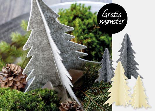 GRATIS MØNSTER - Juletræ i filt