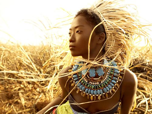 African Allure: Sleep Beautiful, Acne Products, Natural Beautiful, Native American Indian, Body Paintings, Tribal Jewelry, Next Tops Models, Photo, Necklace