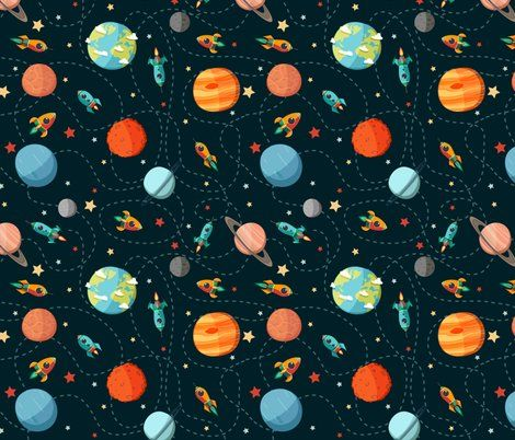 24 best images about fabric on pinterest embroidery for Space themed fabric