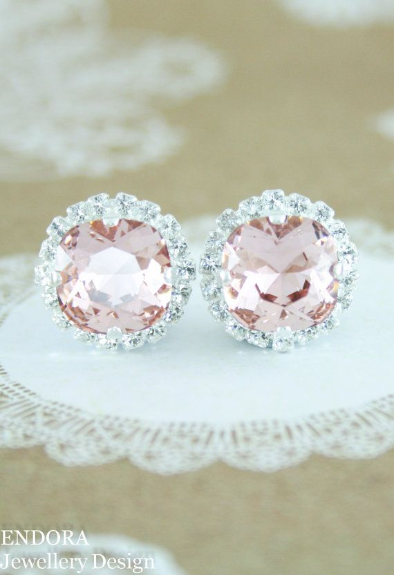 Blush earringsblush rose gold earringsrose gold by EndoraJewellery