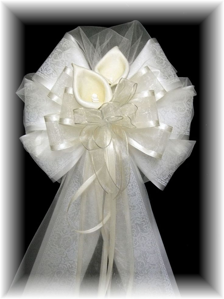 25 best ideas about pew bows on pinterest church pew decorations pew decorations and wedding - Bow decorations for weddings ...