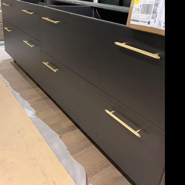 T Bar Solid Brass Cabinet Handles Brass Door Handles Etsy