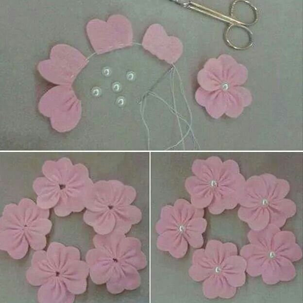 Flower made from felt...
