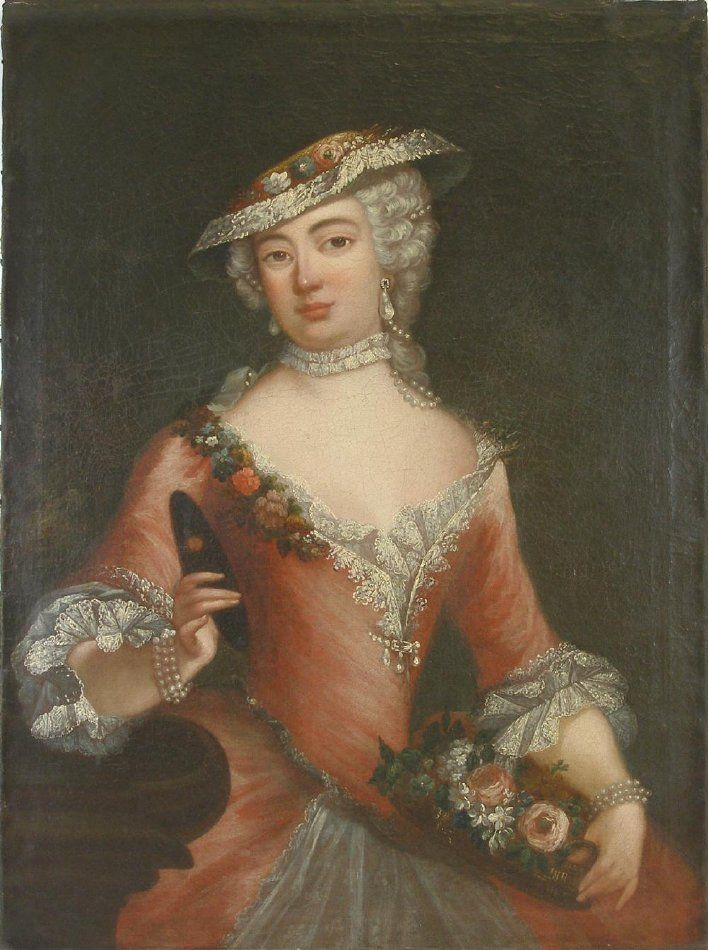 Portrait possibly of Martha Hilton Wentworth (1737-1805), artist unknown, c. 1775. New Hampshire Historical Society 1957.065.05.13
