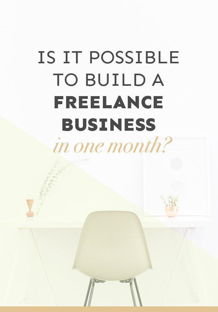 Are you looking to build a freelance business? In just one month, you can start building the foundations of a sustainable business... click through to find out how.