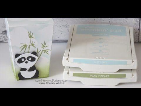 Lidded Popcorn box using Stampin' Up! Artistically Asian Stamp Set