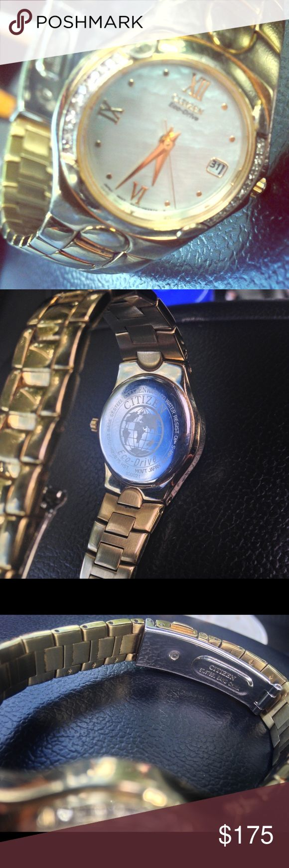 Citizen ladies watch Gold tone. Eco drive. Works well. Well loved. Citizen Accessories Watches