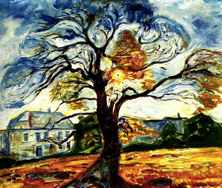 The Oak Edvard Munch - 1906                                                                                                                                                                                 More