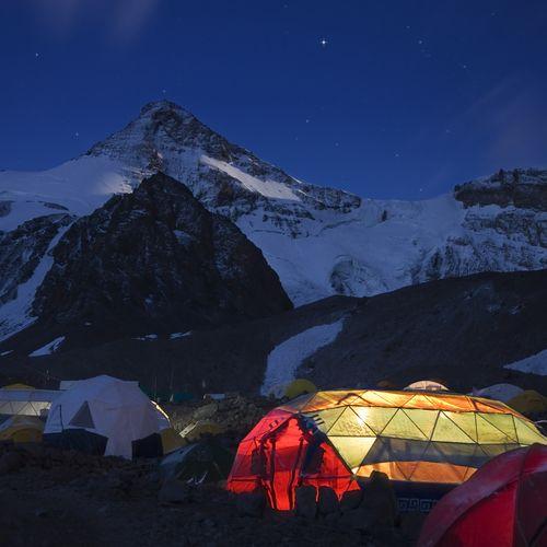 El Aconcagua al caer la noche #montaña #Argentina