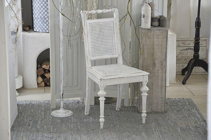 Vintage Stühle - Traumhafter Biedermeierstuhl *White Living* - ein Designerstück von Elflora bei DaWanda