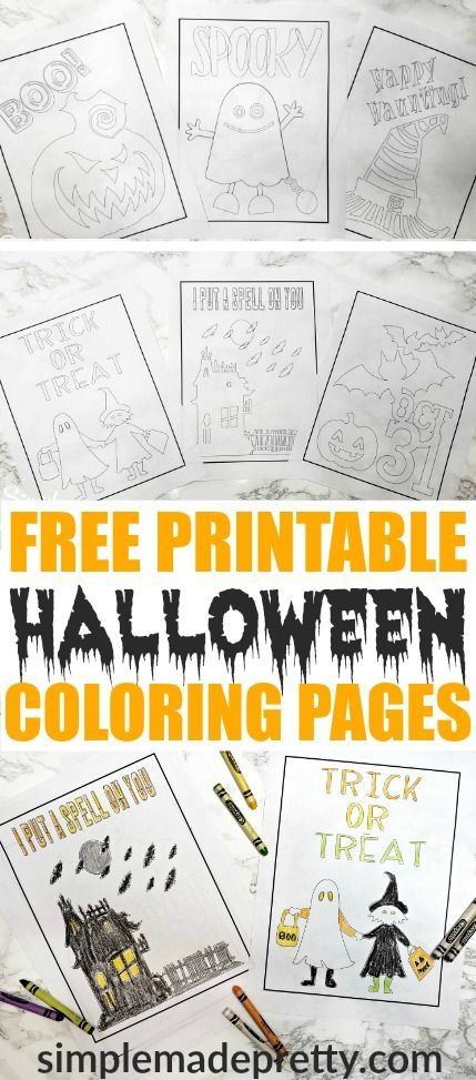 Free Printable Halloween Coloring Pages In 2018