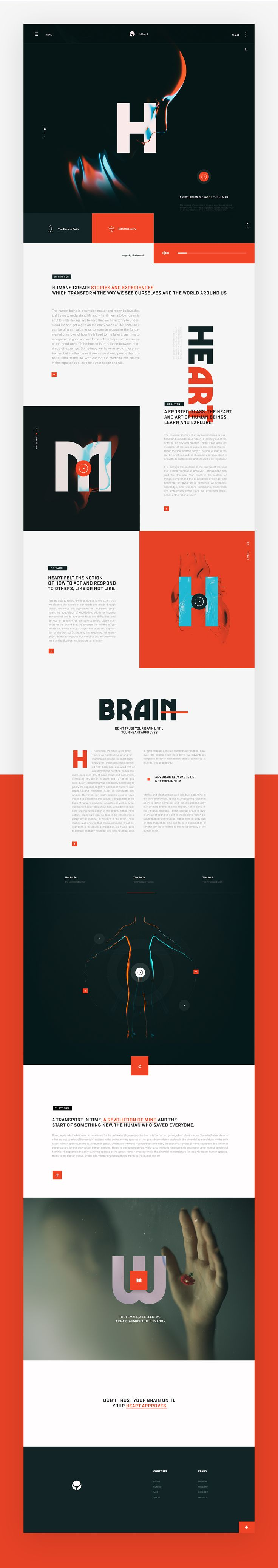 Humans – Ui design concept and visual identity by Nick Franchi.
