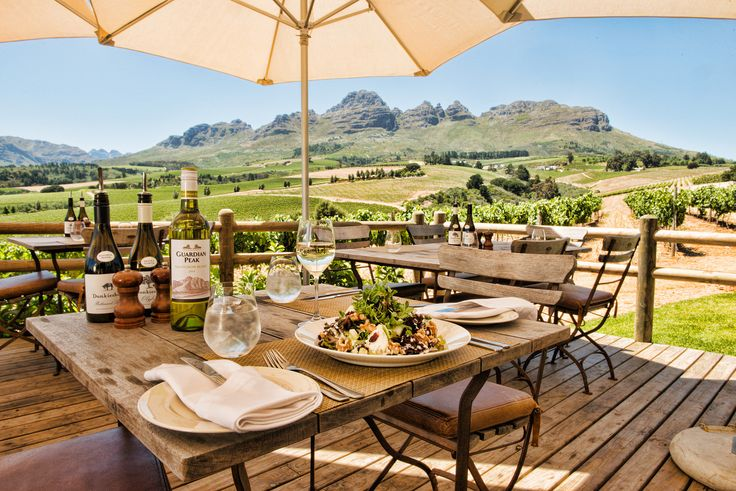 Lunchtime view at Guardian Peak Winery #Stellenbosch #SouthAfrica