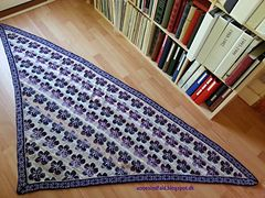 Ravelry: Lilla blomst - Purple Flower pattern by Anne Holtegård