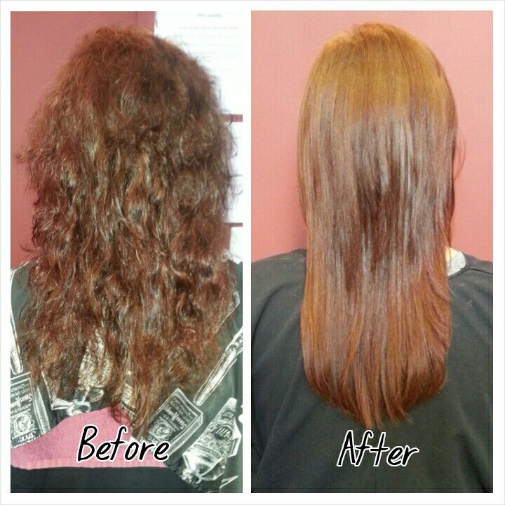 Goldwell Kerasilk Treatment with absolutely no iron work! ( Hair by Katie )