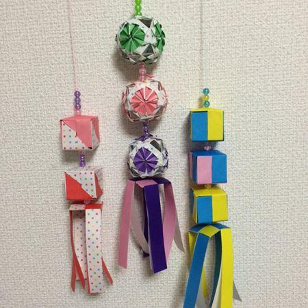 Origami Tanabata Decorations 浦和の折り紙仲間と作ったもの。いい感じになりました。