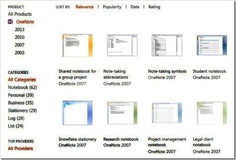 Microsoft Templates for OneNote 2013