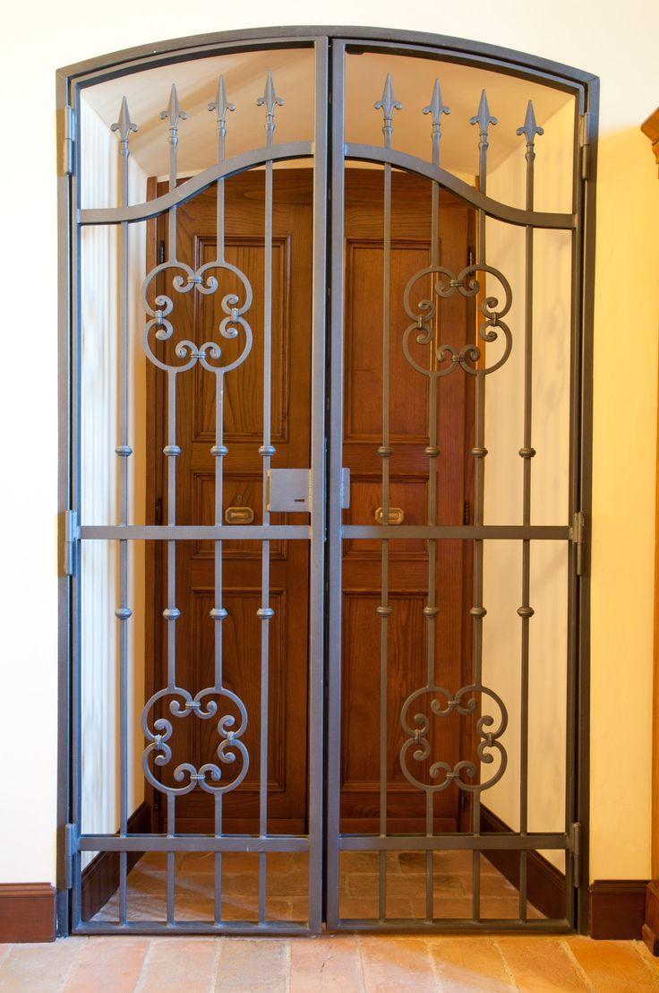 Image result for metal glass security doors that go over a solid door