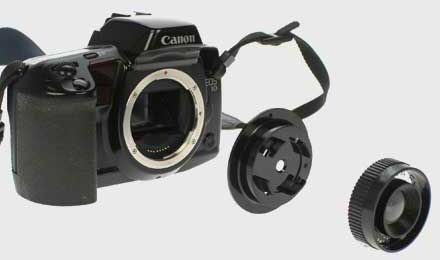The Diana F+ Canon Lens Adaptor