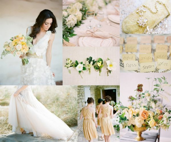 Oh yes please!   Pale Yellow Peach Wedding Colors