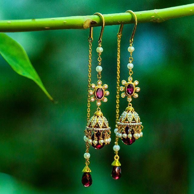 How are these for a #wowwednesday? New additions to our signature sui-dhaga earrings. Explore now! Link in the bio! #jewelry #earrings #statement #suidhaga #signature #exclusive #latest #collection #newlaunch #lovegold #instagold #instajewelry #jewelrygram