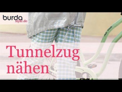Tunnelzüge sind an vielen Kleidungstücken zu finden, es gibt verschiedene Techniken sie zu nähen, in diesem Film zeigen wir euch mehrere Möglichkeiten. Video...