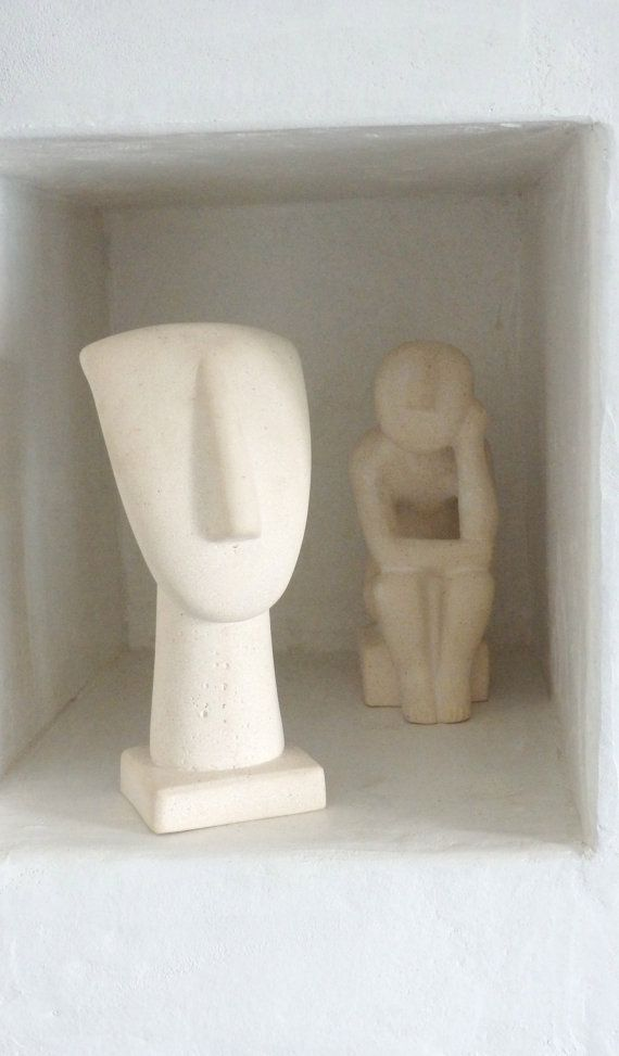 Ancient Greek Female Statue Cycladic Art, Museum Replica, Cycladic figurine, Art Decor,Weight 2 Kg