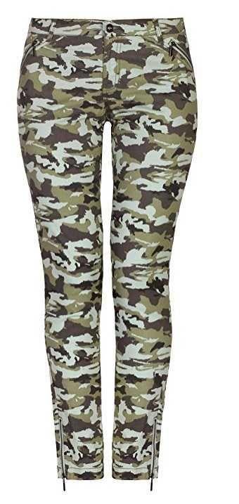 Oodji Pantalones Camuflaje Con Cremalleras Decorativas Este modelo tiene la talla más pequeña de lo normal. Elige, por favor, una talla más que tu talla h