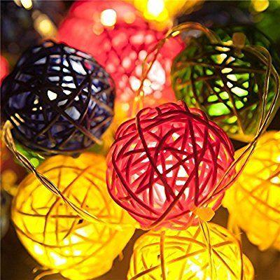 Samoleus Cadena Solar Luces, 20 LED Hada Estrellada Potencia de Solar del de 4,8 M al Aire Libre de la Rota Cadena Luces Iluminación Ambiente para Paisaje Patio Jardín Dormitorio Campamento Navidad Fiesta Boda (Color)