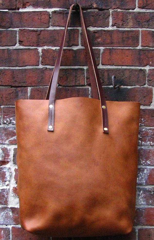 Tan Leather Tote